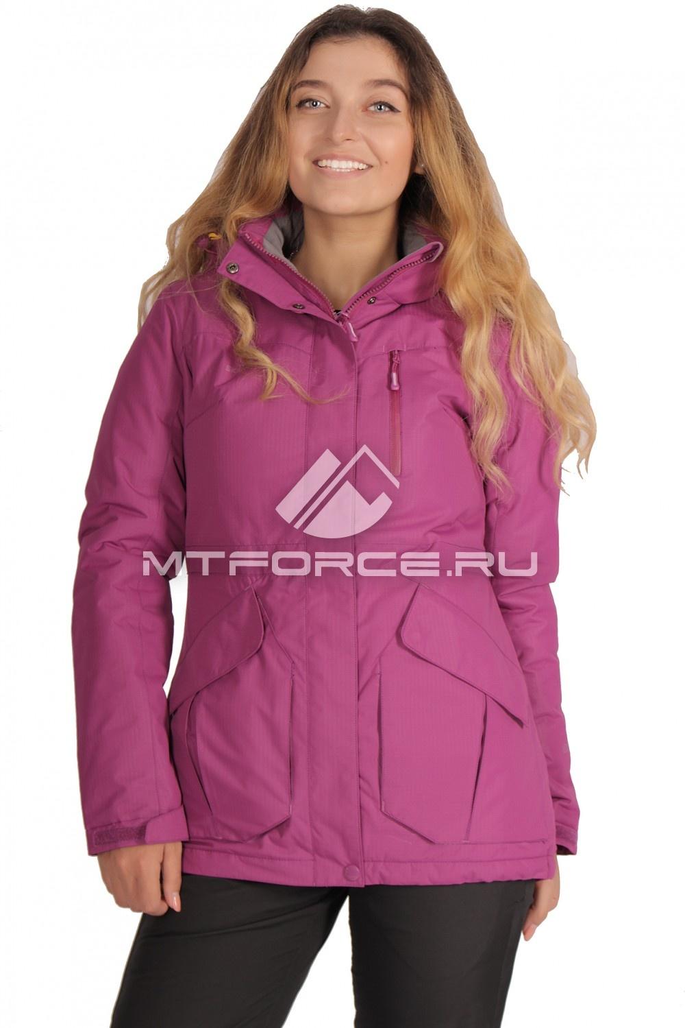 Купить                                  оптом Куртка демисезонная женская фиолетового цвета 1702F