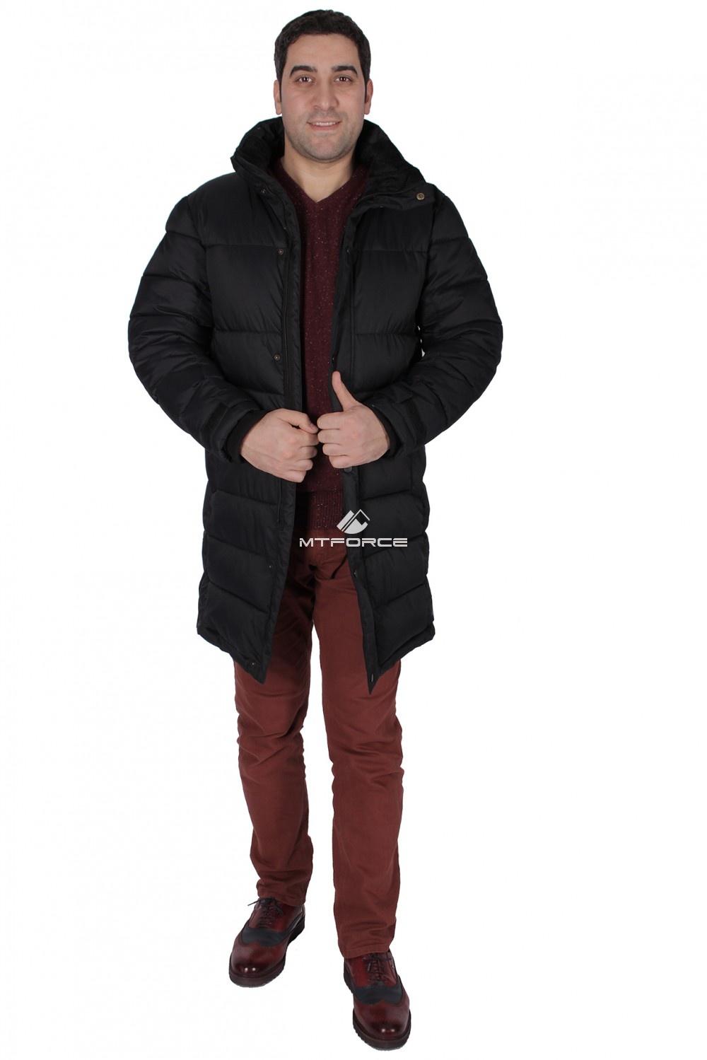 Купить оптом Куртка зимняя мужская черного цвета 17020Ch в Санкт-Петербурге