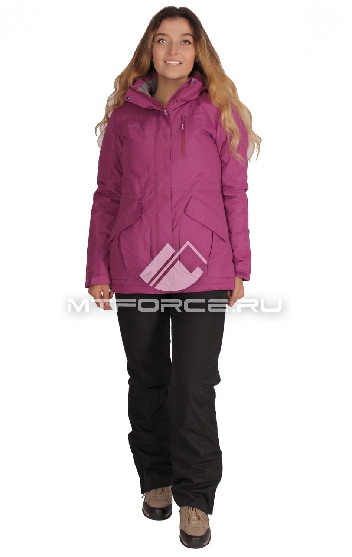 Купить                                  оптом Костюм демисезонный женский фиолетового цвета 01702F