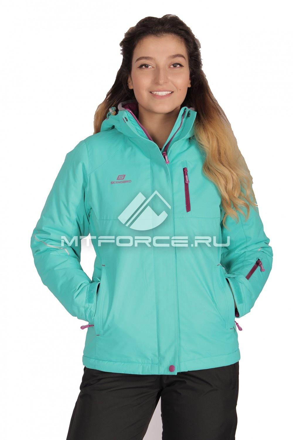 Купить                                  оптом Куртка демисезонная женская бирюзового цвета 1708Br