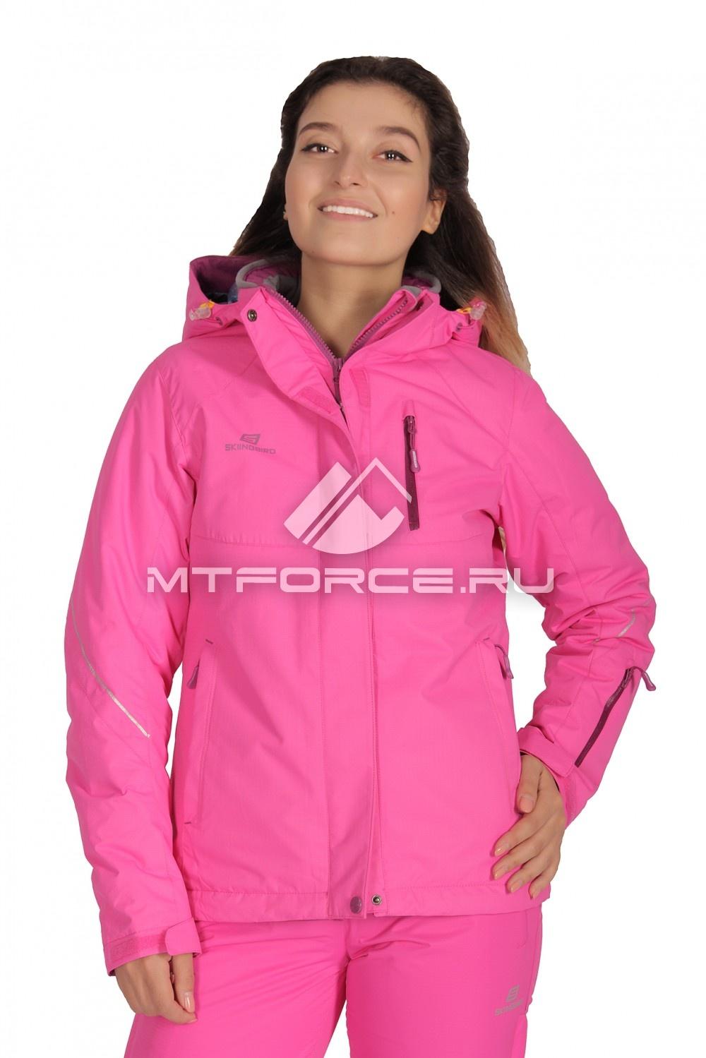 Купить                                  оптом Куртка демисезонная женская розового цвета 1708R