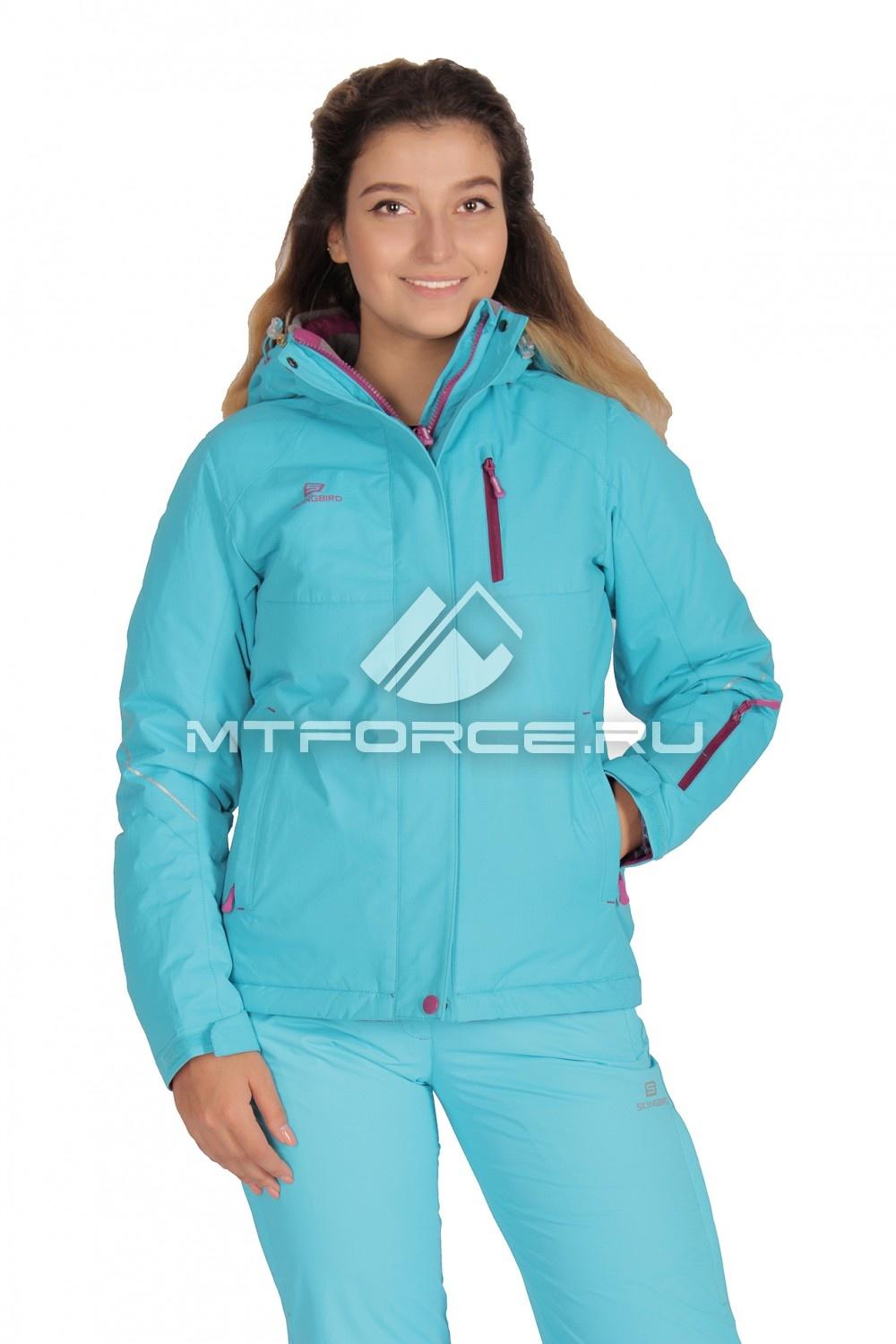 Купить                                  оптом Куртка демисезонная женская голубого цвета 1708G