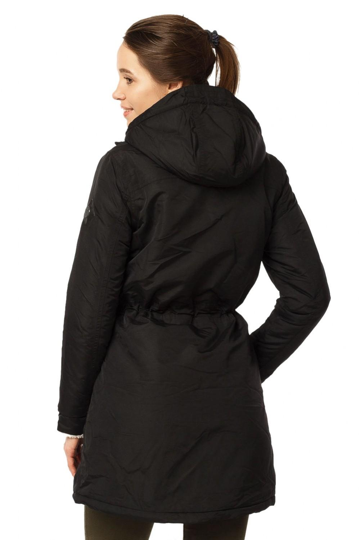 Купить оптом Куртка парка демисезонная женская черного цвета 17099Ch