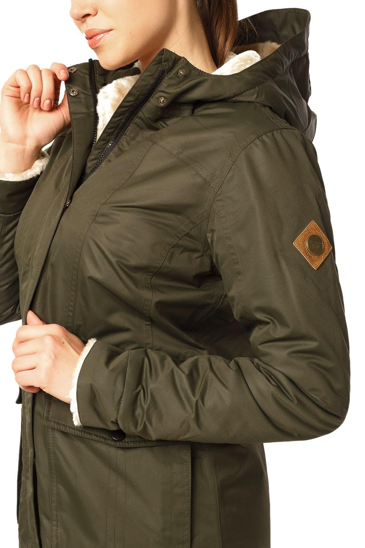 Купить оптом Куртка парка демисезонная женская хаки цвета 17099Kh
