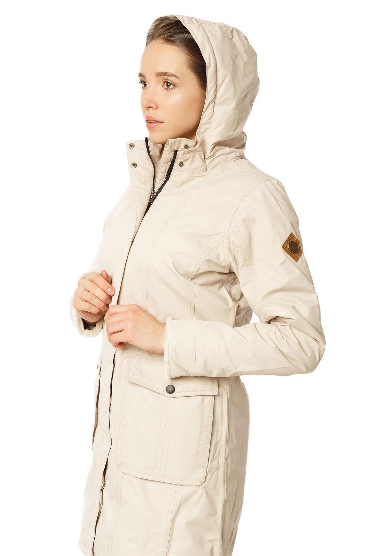 Купить оптом Куртка парка демисезонная женская ПИСК сезона бежевого цвета 17099B