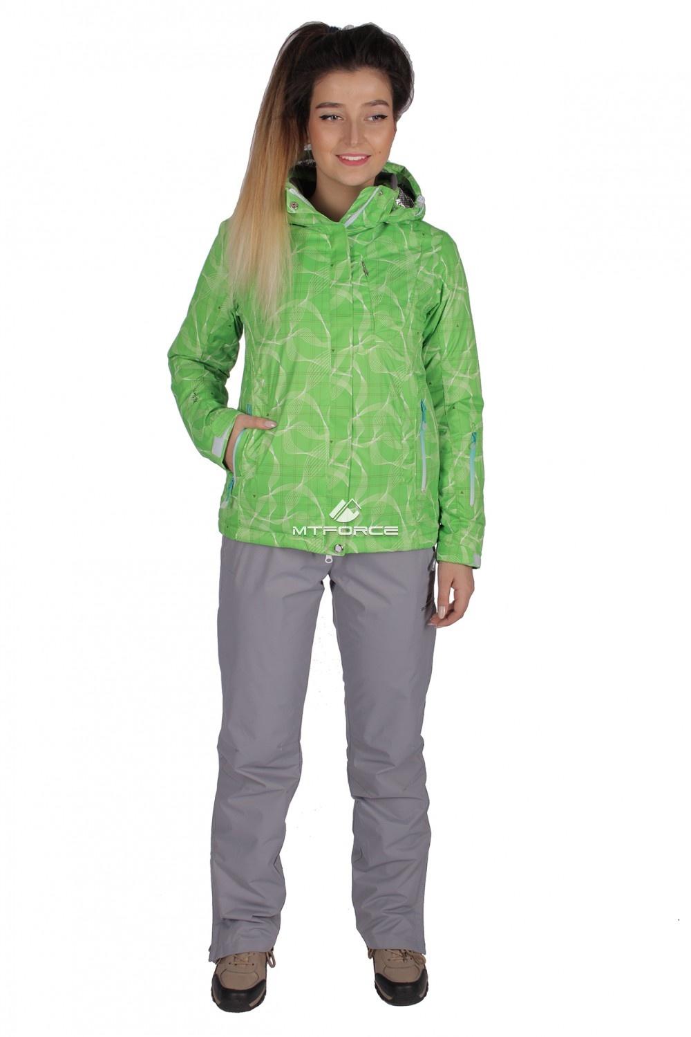Купить оптом Куртка спортивная женская демисезонная салатового цвета 1710Sl в Омске