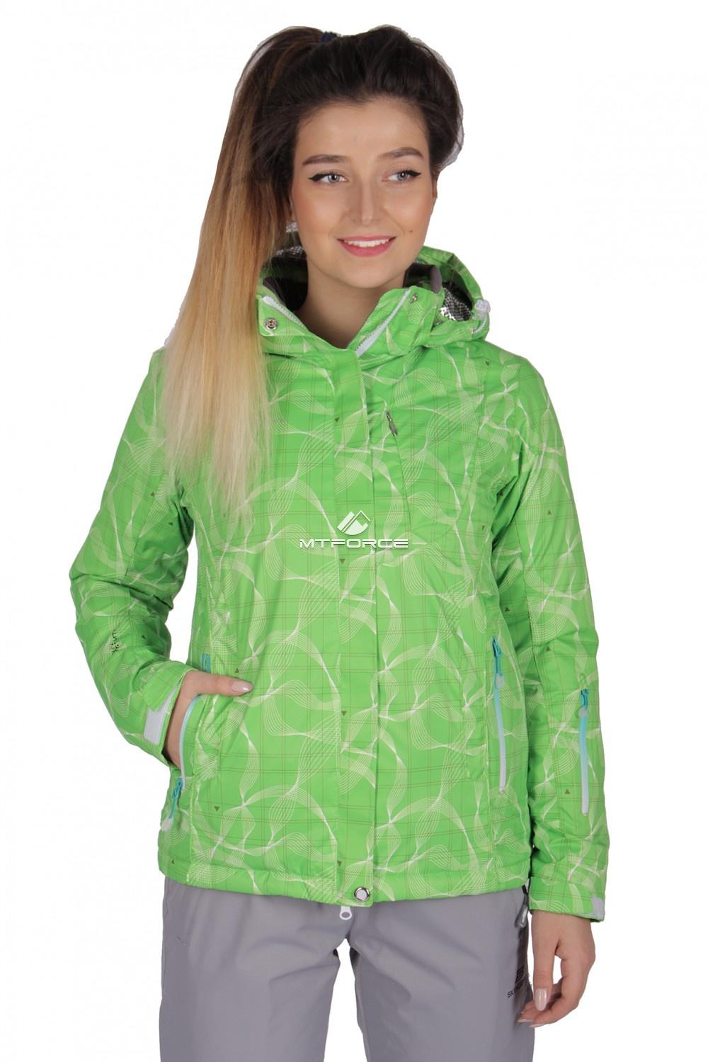 Купить оптом Куртка спортивная женская демисезонная салатового цвета 1710Sl в Санкт-Петербурге