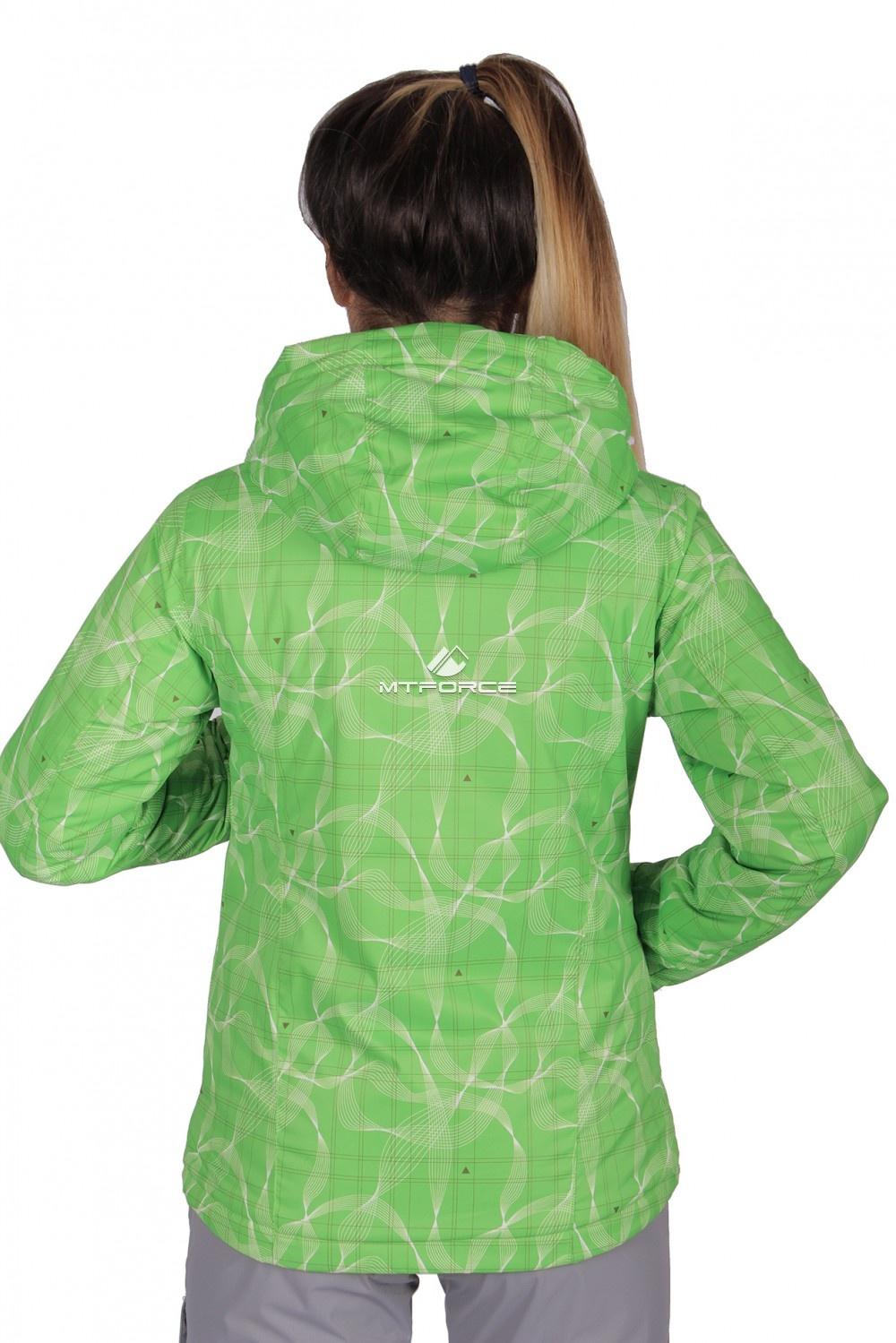 Купить оптом Куртка спортивная женская демисезонная салатового цвета 1710Sl в Перми