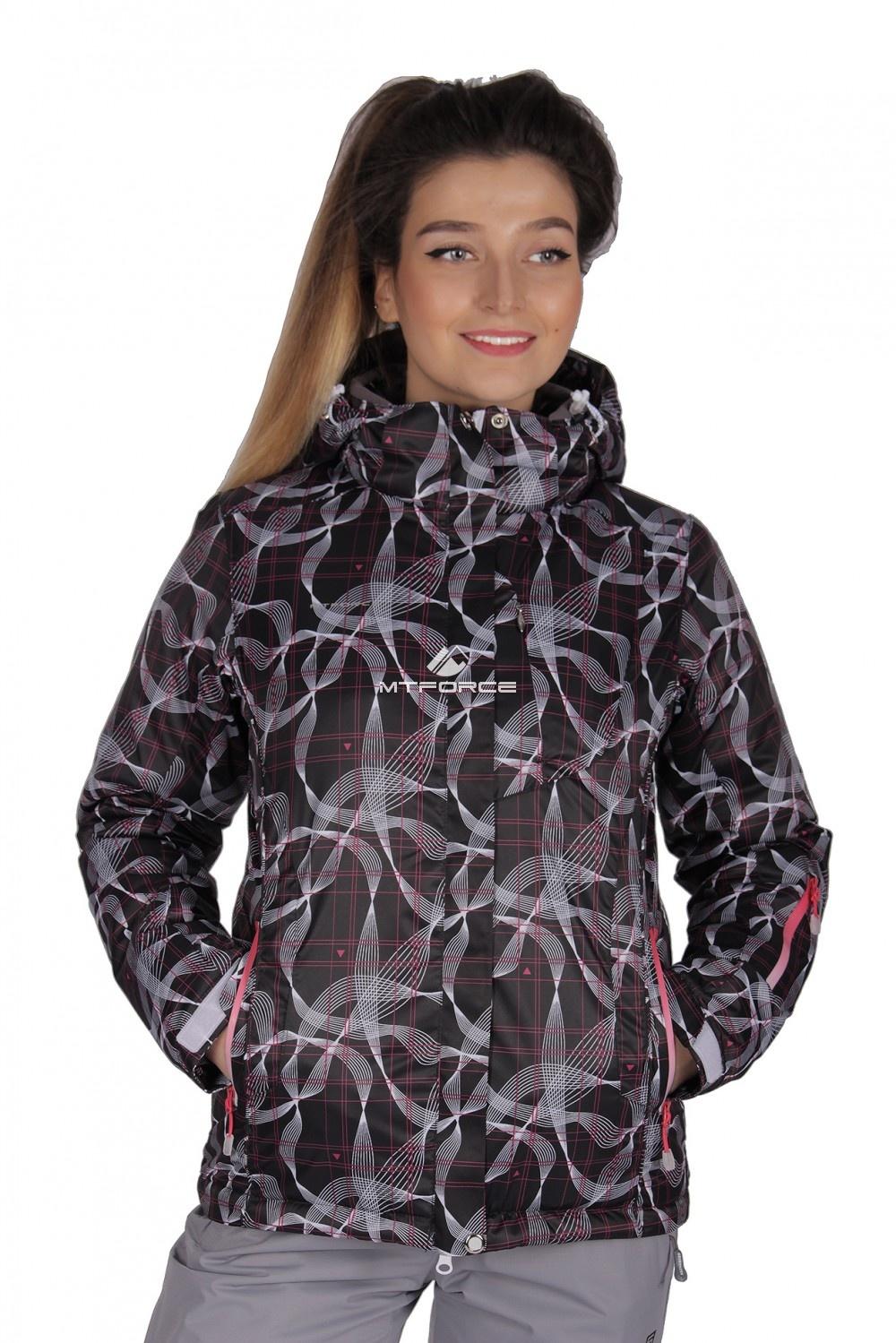 Купить  оптом Куртка спортивная женская демисезонная черного цвета 1710Ch
