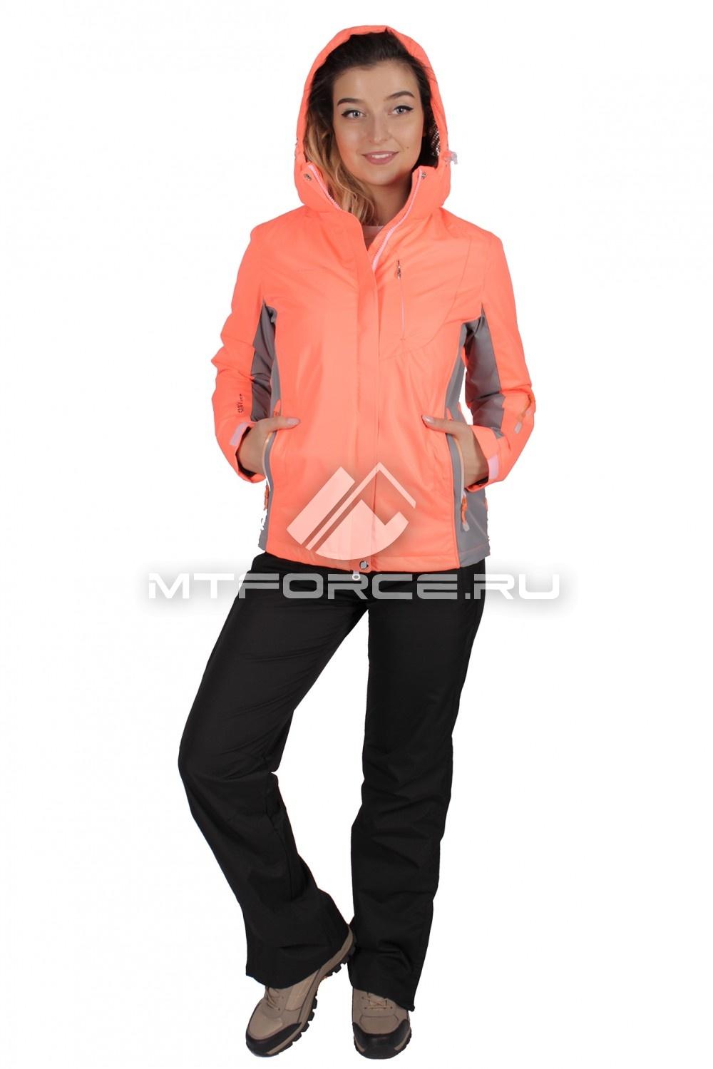 Купить                                  оптом Костюм женский осень весна персикового цвета 01711P