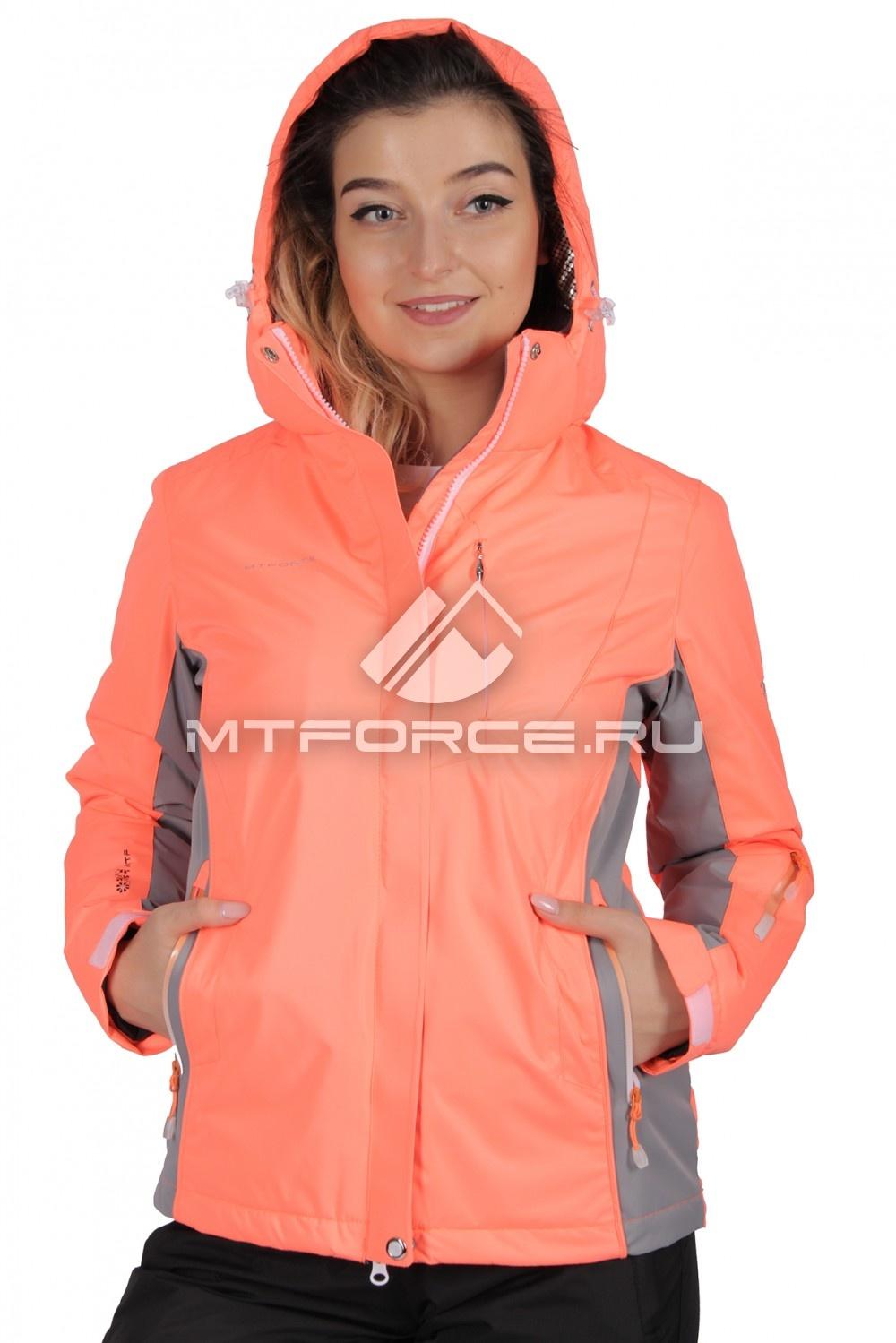 Купить                                  оптом Куртка спортивная женская осень весна персикового цвета 1711P в Новосибирске