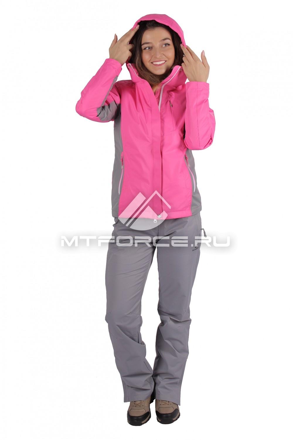 Купить                                  оптом Костюм женский осень весна розового цвета 01711R-1 в Санкт-Петербурге