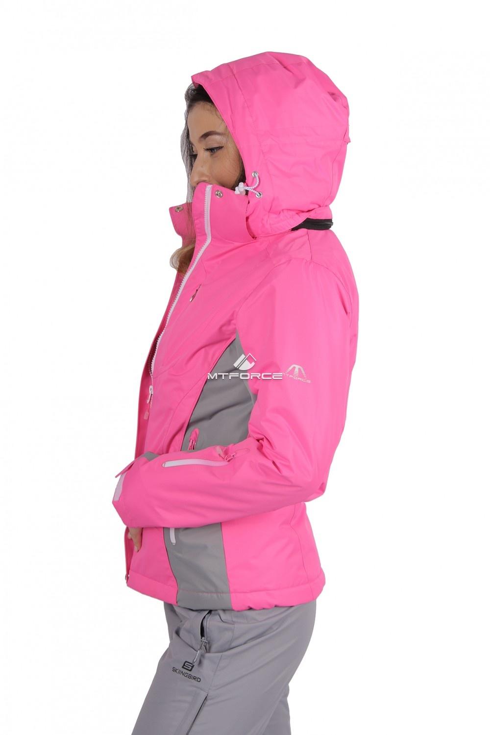 Купить оптом Куртка женская осень весна розового цвета 1713-1R в Перми