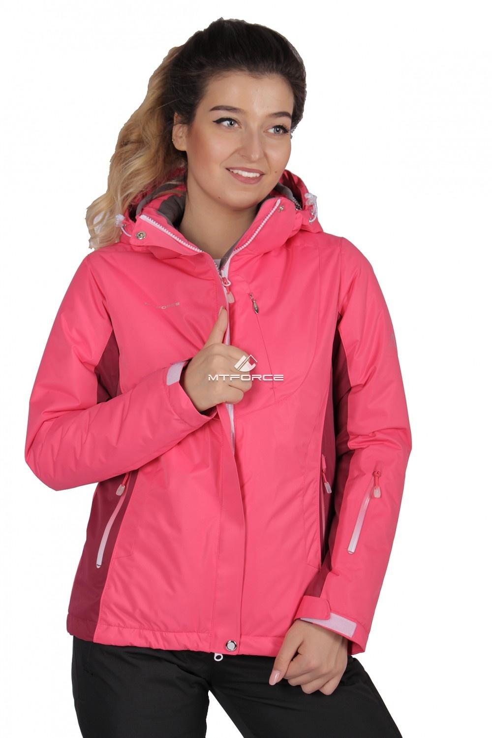 Купить                                  оптом Куртка спортивная женская осень весна розового цвета 1711R в Новосибирске