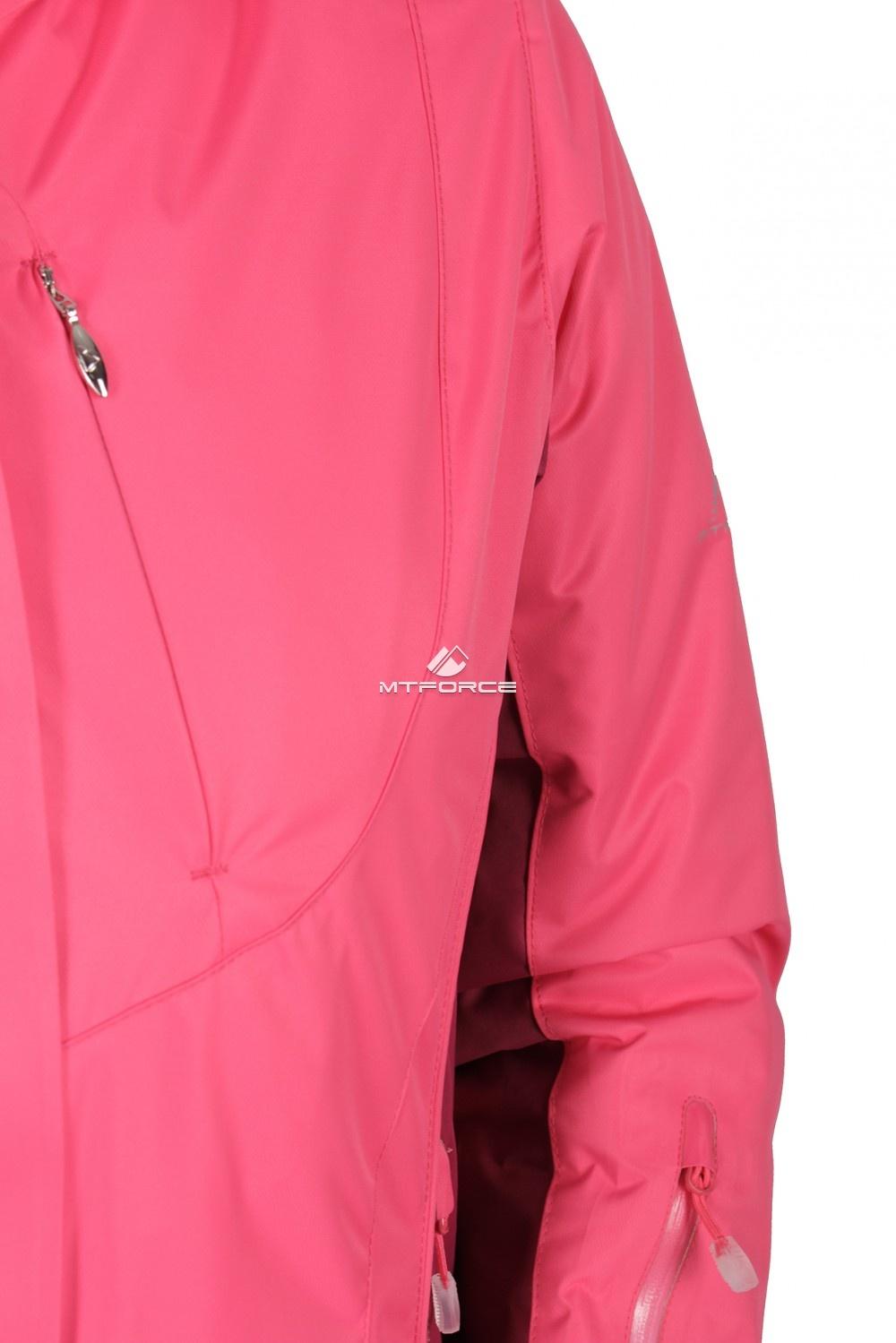 Купить оптом Куртка спортивная женская осень весна розового цвета 1711R в Нижнем Новгороде