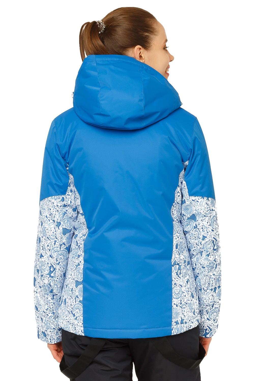 Купить оптом Куртка горнолыжная женская синего цвета 17122S в Сочи