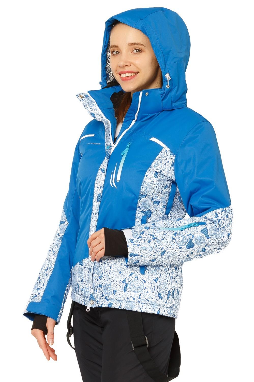 Купить оптом Костюм горнолыжный женский синего цвета 017122S в Воронеже