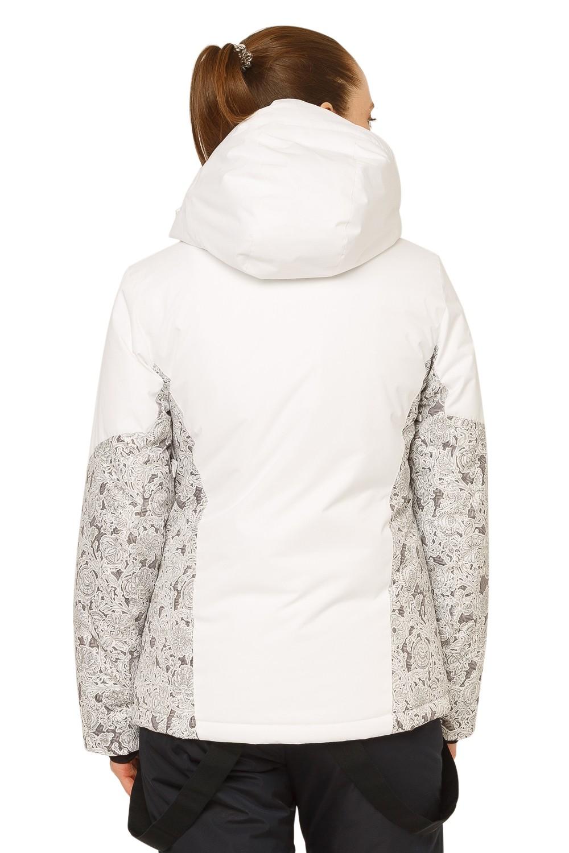 Купить оптом Куртка горнолыжная женская белого цвета 17122Bl в Сочи