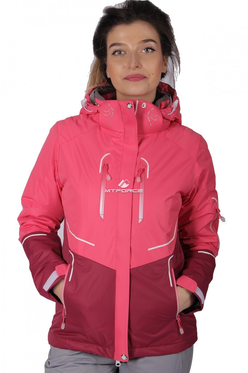 Купить оптом Куртка спортивная женская осень весна розового цвета 1715R в Новосибирске
