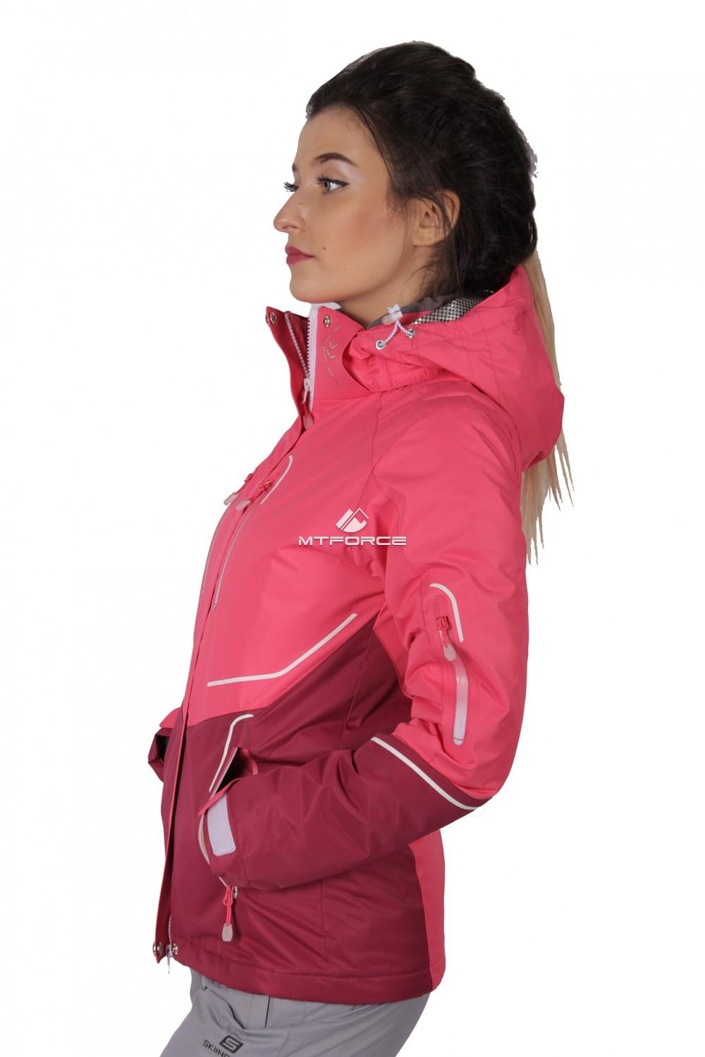 Купить оптом Куртка спортивная женская осень весна розового цвета 1717R