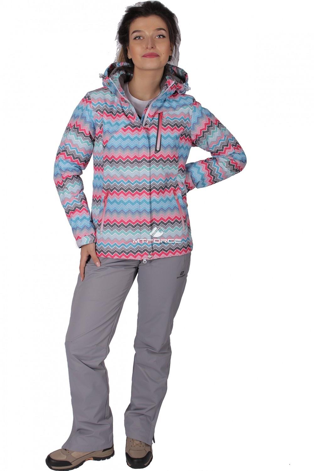 Купить оптом Куртка спортивная женская осень весна розового цвета 1716R в Омске