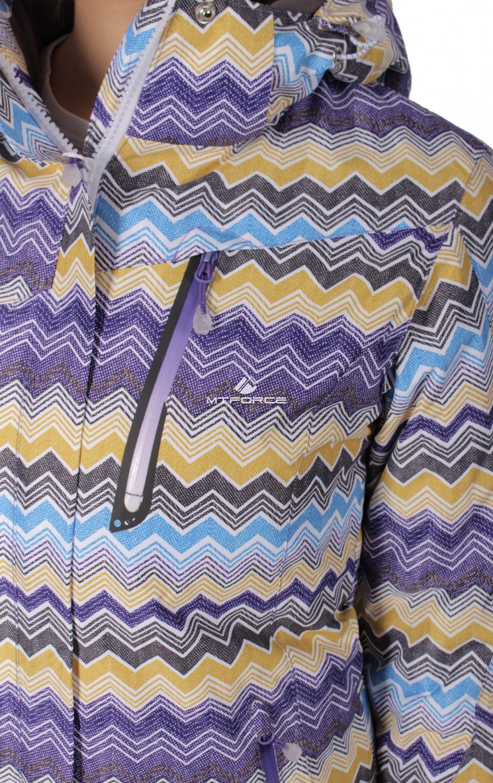Купить оптом Куртка спортивная женская осень весна фиолетового цвета 1716F в Уфе