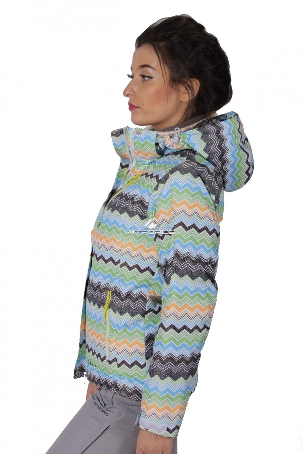 Купить оптом Куртка спортивная женская осень весна салатового цвета 1716Sl в Воронеже