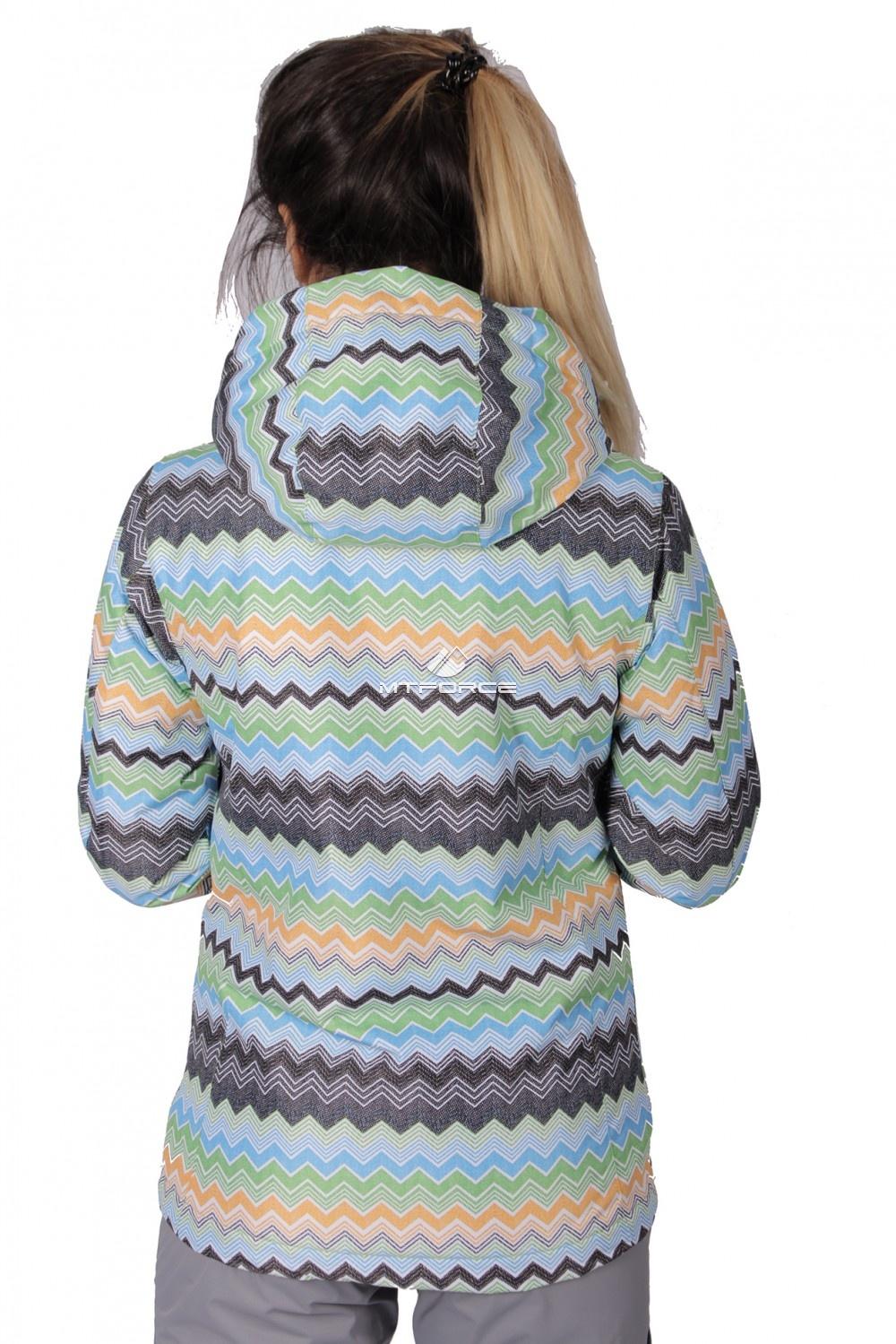 Купить оптом Куртка спортивная женская осень весна салатового цвета 1716Sl в Уфе