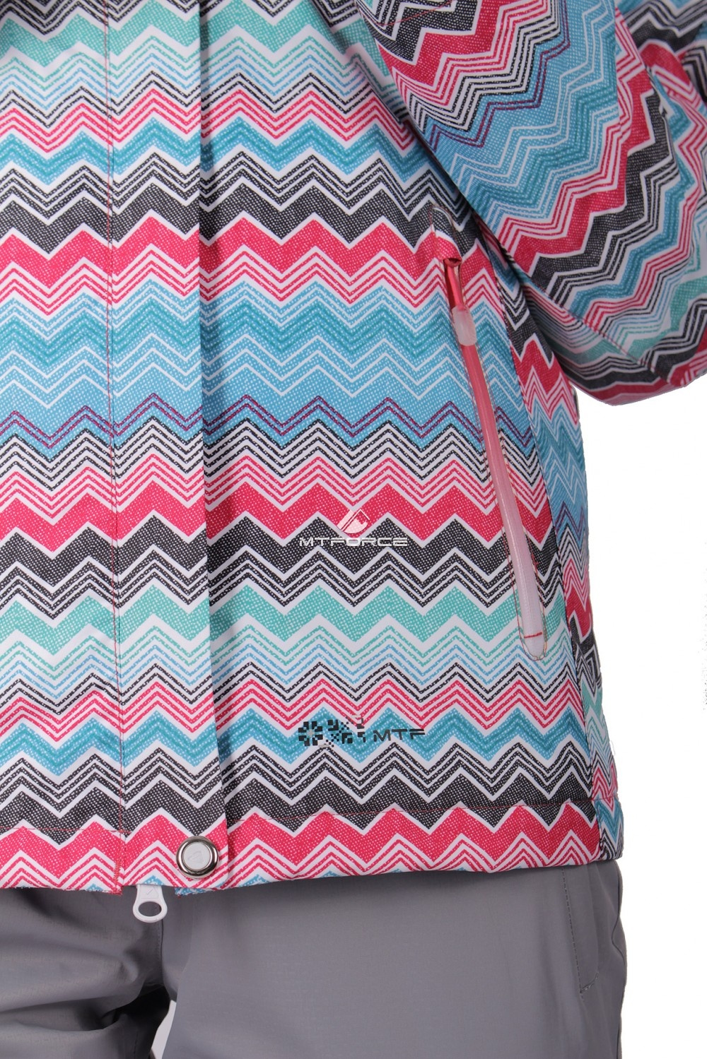 Купить оптом Куртка спортивная женская осень весна розового цвета 1716R в Волгоградке