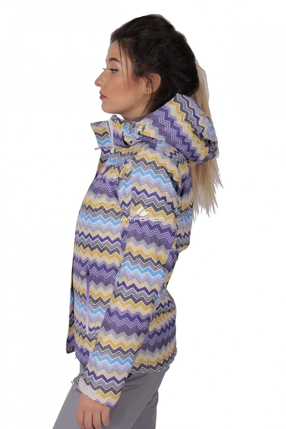 Купить оптом Куртка спортивная женская осень весна фиолетового цвета 1716F в Екатеринбурге