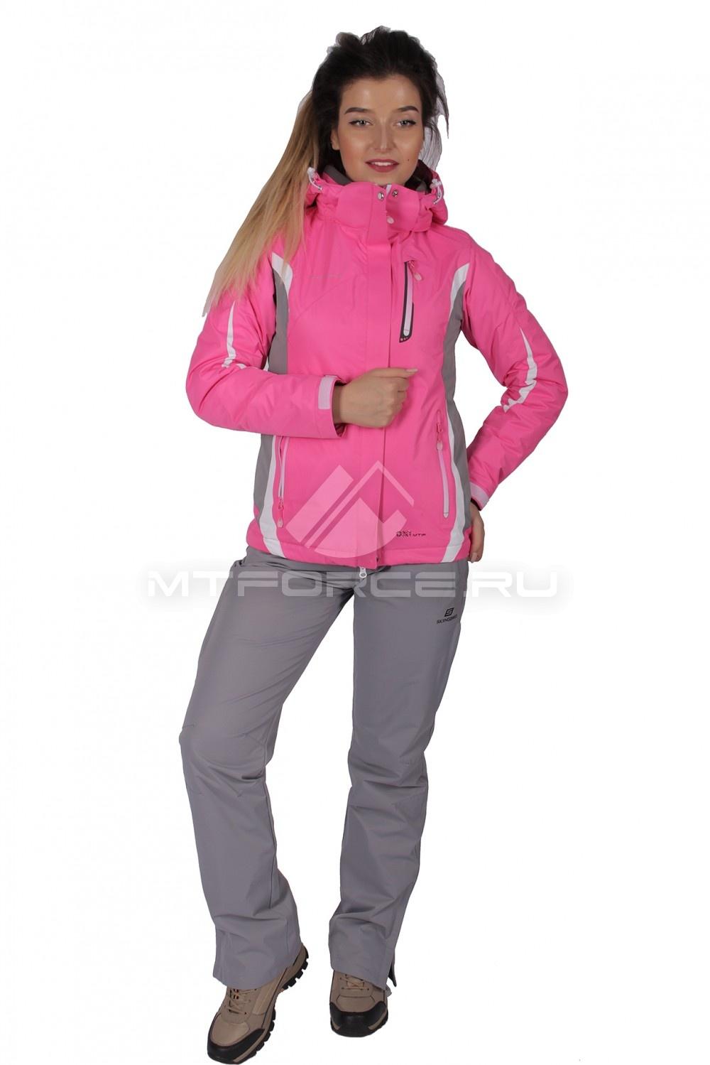 Купить  оптом Костюм женский осень весна розового цвета 01717-1R
