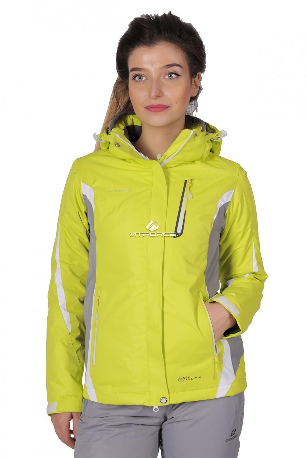 Купить                                  оптом Куртка спортивная женская осень весна желтый цвета 1717J в Новосибирске