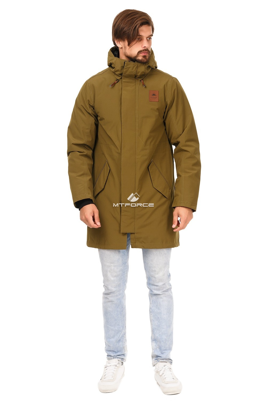 Купить оптом Куртка парка мужская осень весна хаки цвета 1720Kh в Нижнем Новгороде