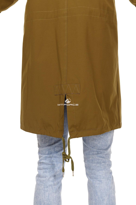 Купить оптом Куртка парка мужская осень весна хаки цвета 1720Kh в Екатеринбурге