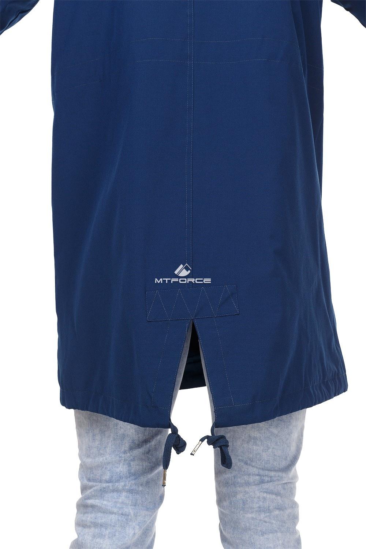 Купить оптом Куртка парка мужская осень весна темно-синего цвета 1720TS в Челябинске
