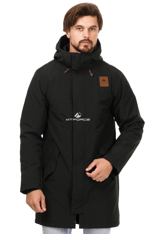 Купить оптом Куртка парка мужская осень весна черного цвета 1720Ch