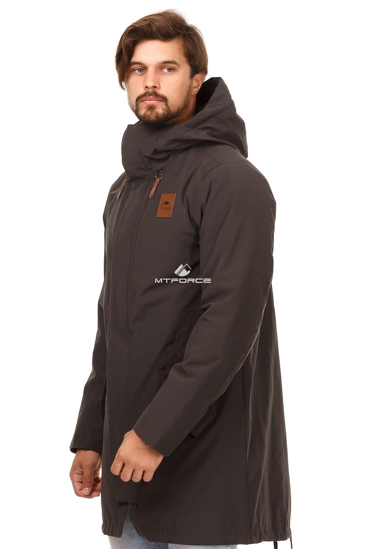 Купить оптом Куртка парка мужская осень весна темно-серого цвета 1720TC в Волгоградке