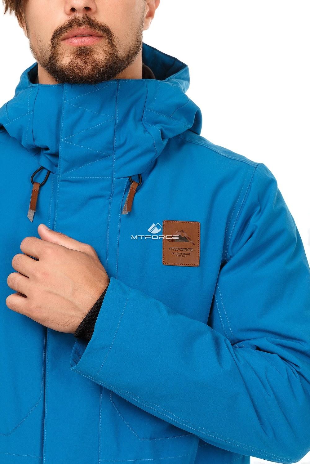 Купить оптом Куртка парка мужская осень весна синего цвета 1720S