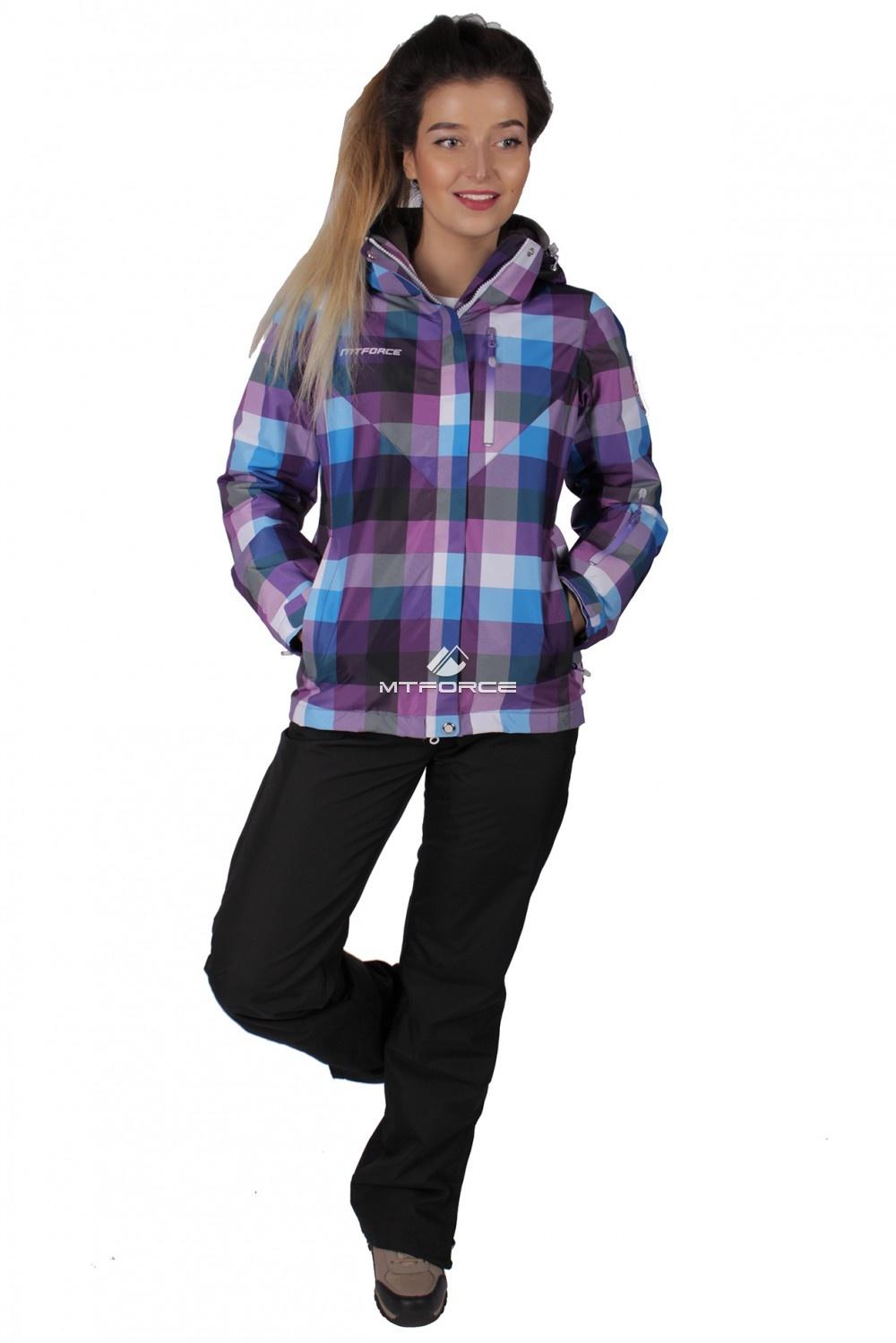 Купить  оптом Костюм женский осень весна фиолетового цвета 017211F