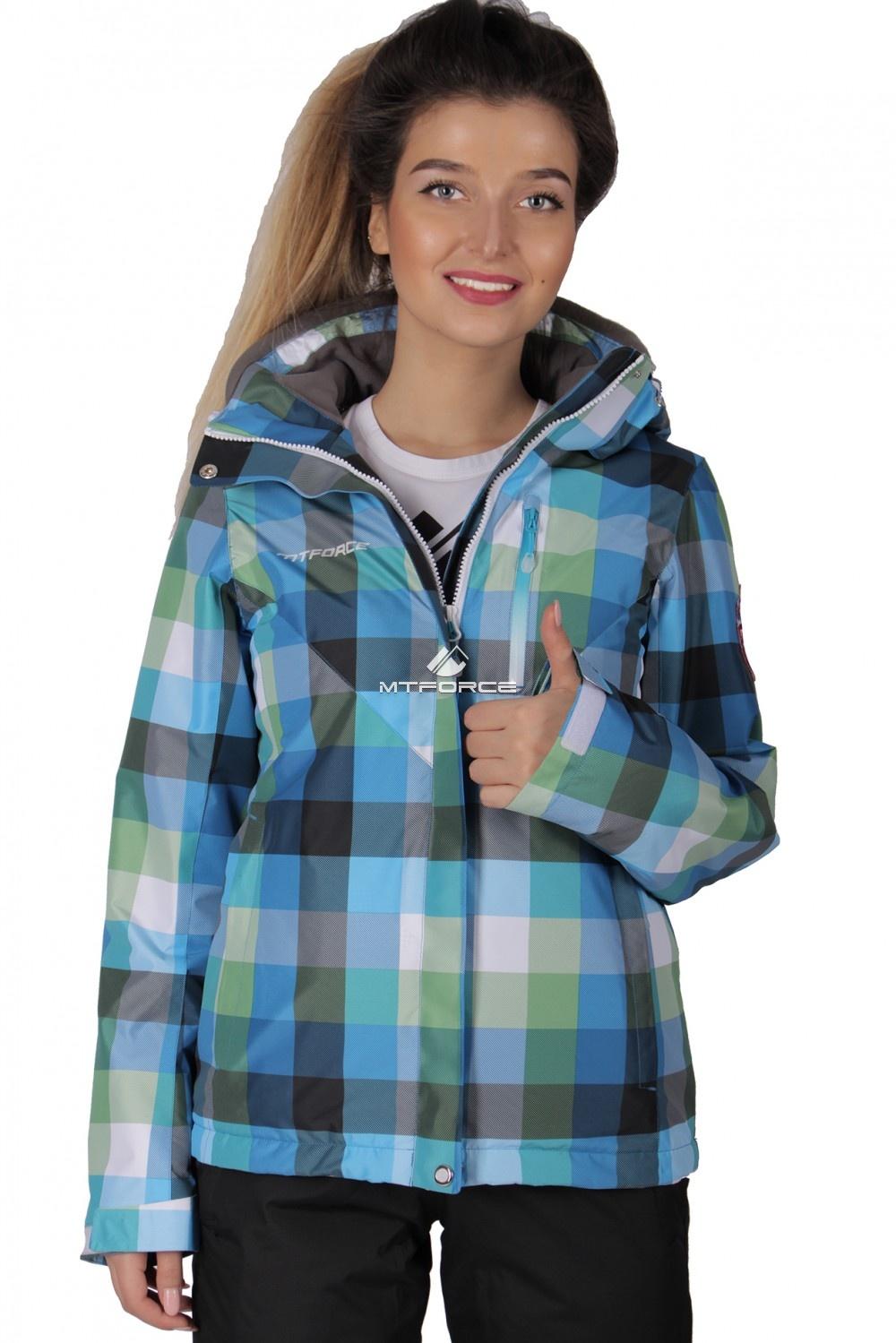 Купить оптом Костюм женский осень весна голубого цвета 017211Gl в Челябинске