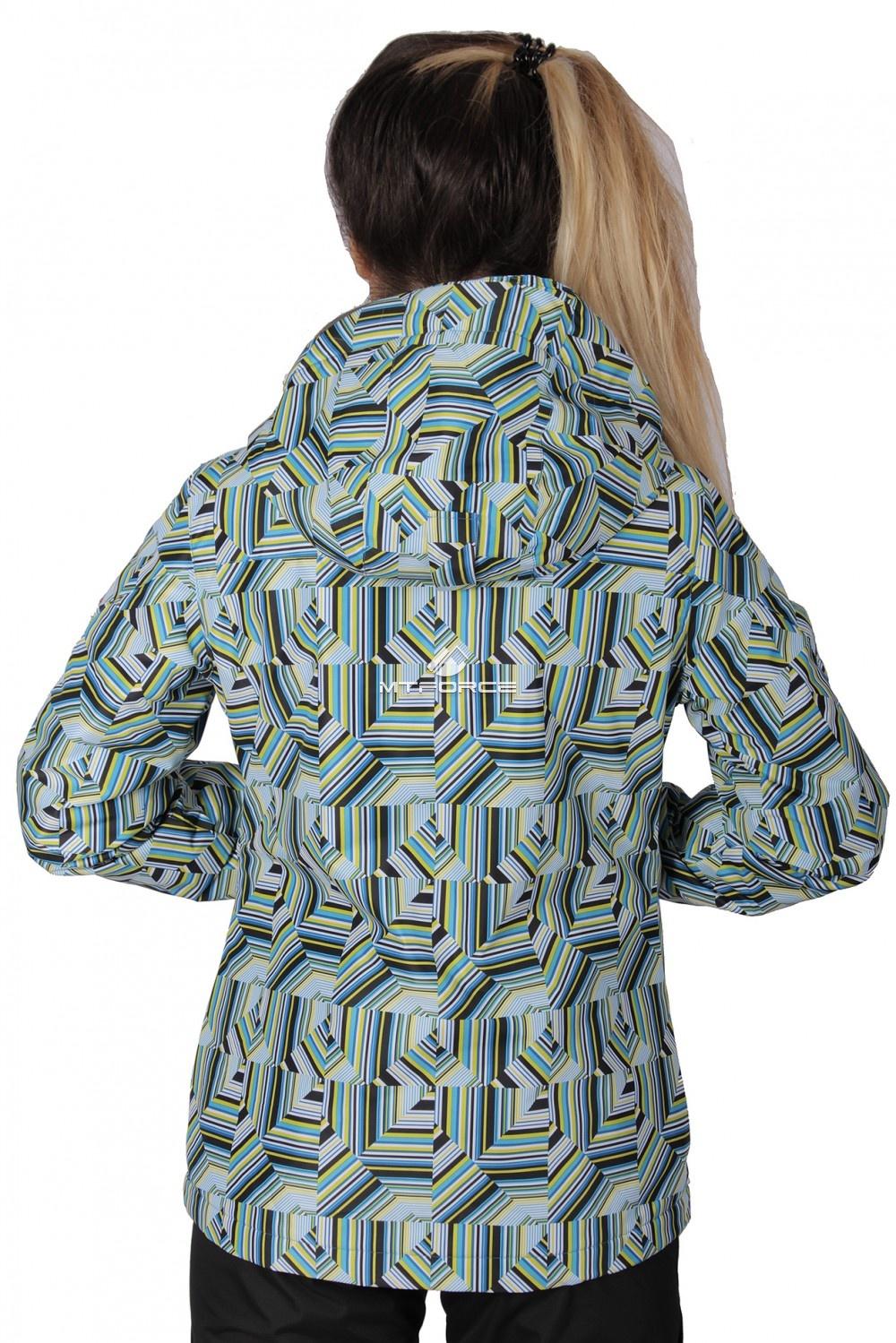 Купить оптом Куртка спортивная женская осень весна голубого цвета 1722Gl в  Красноярске
