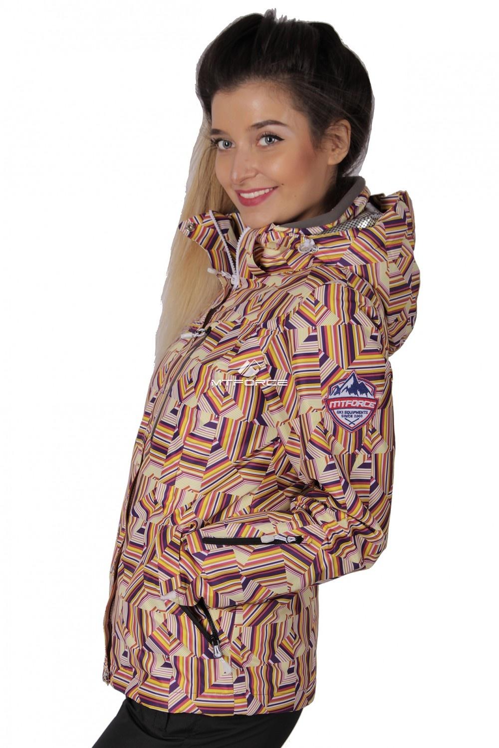 Купить оптом Куртка спортивная женская осень весна желтого цвета 1722J в Самаре