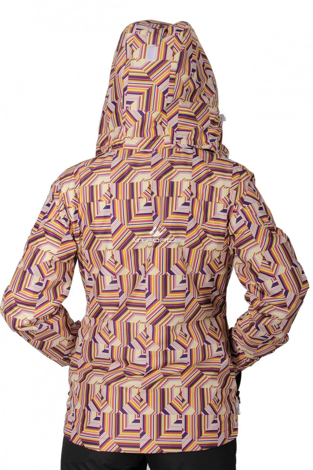 Купить оптом Куртка спортивная женская осень весна желтого цвета 1722J в Ростове-на-Дону