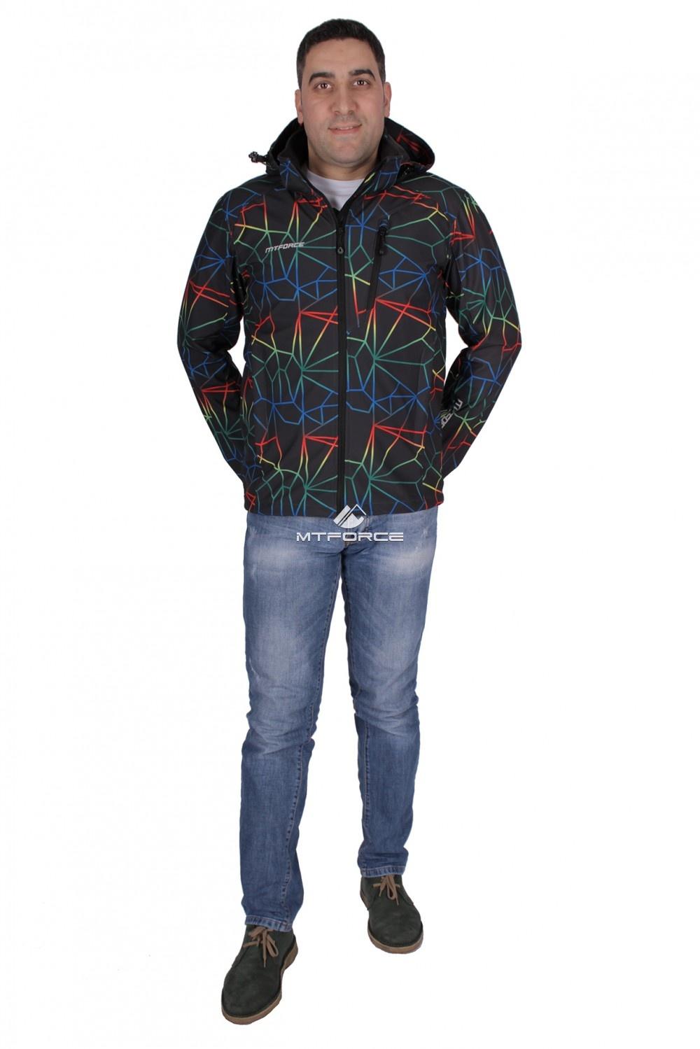 Купить оптом Ветровка - виндстоппер мужская темно-синего цвета 1732TS в Новосибирске
