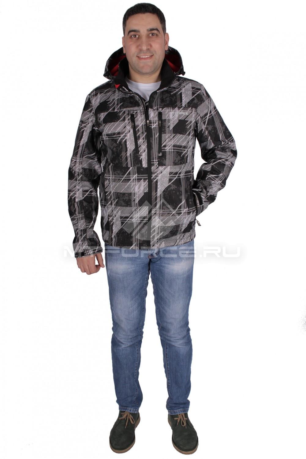 Купить  оптом Ветровка - виндстоппер мужская темно-серого цвета 1733ТС