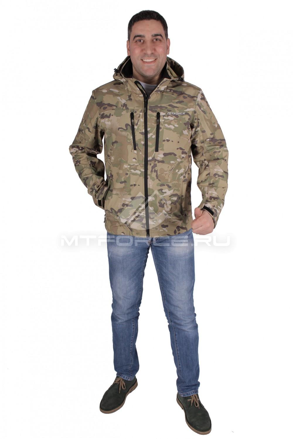 Купить                                  оптом Ветровка - виндстоппер мужская бежевого цвета 1733B в Новосибирске