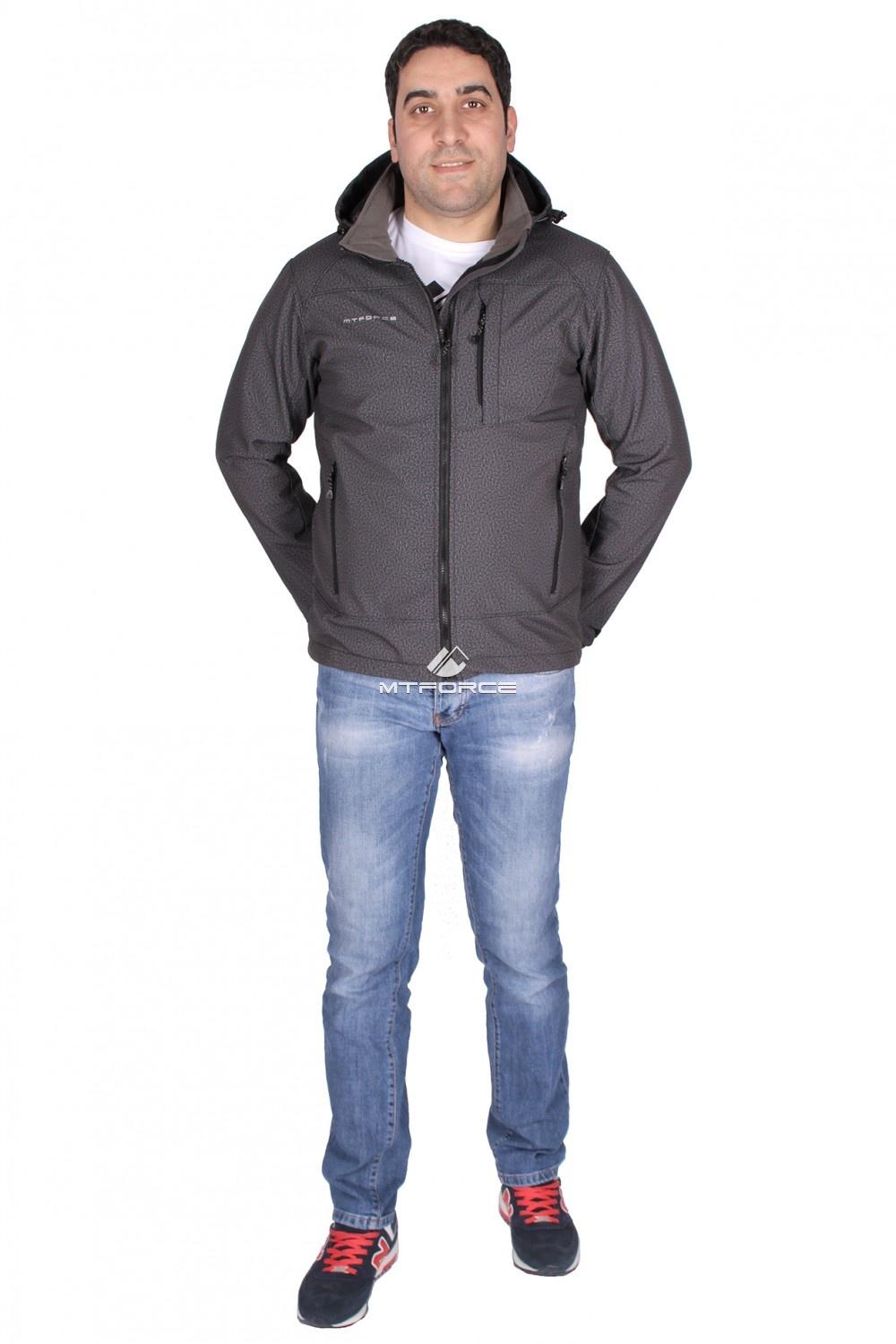 Купить  оптом Ветровка - виндстоппер мужская серого цвета 1733Sr