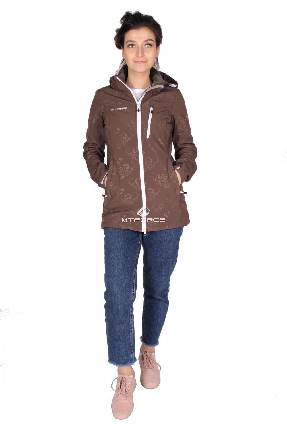 Купить  оптом Ветровка - виндстоппер женская коричневого цвета 1735K