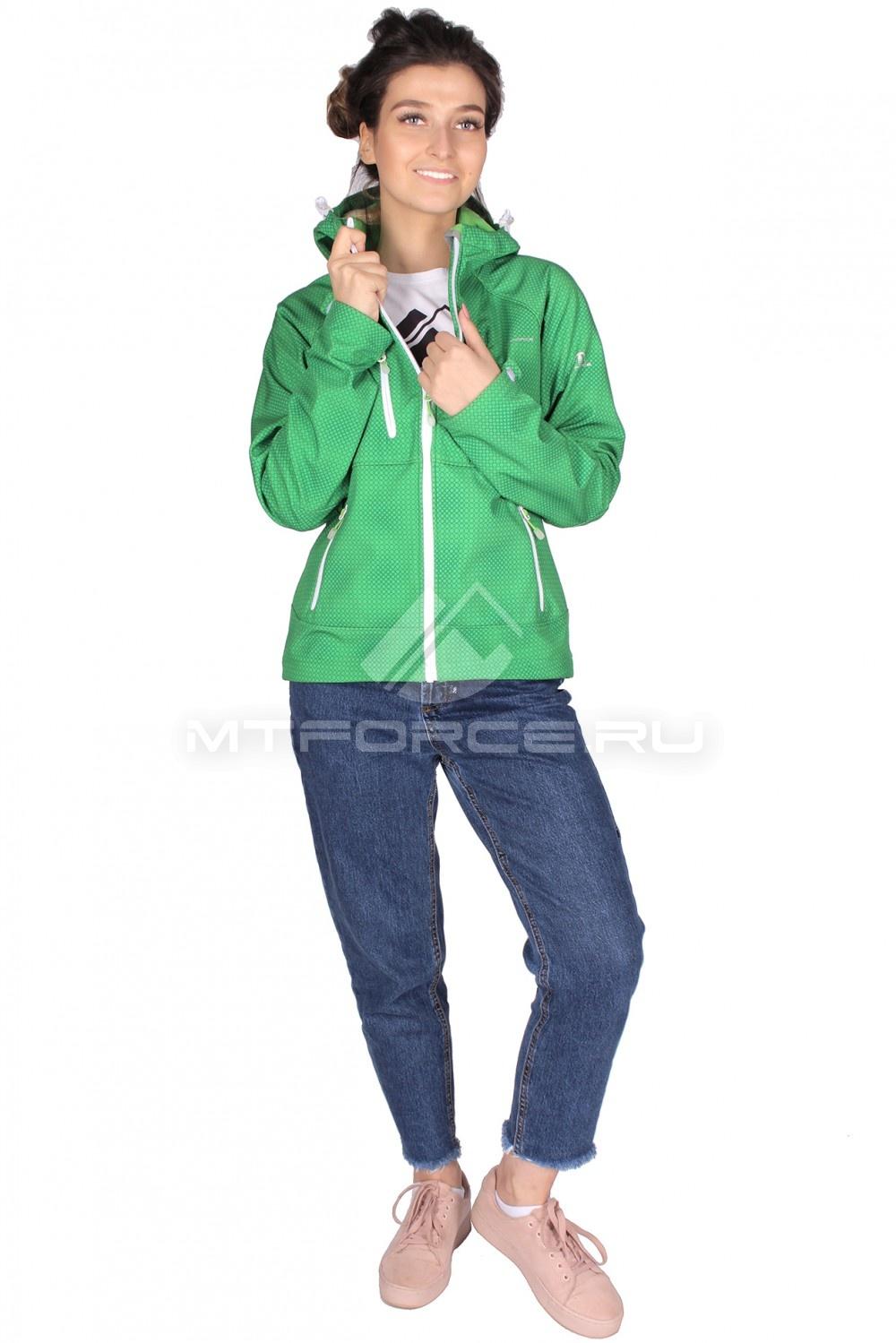 Купить                                  оптом Ветровка - виндстоппер женская зеленого цвета 1736Z в Новосибирске