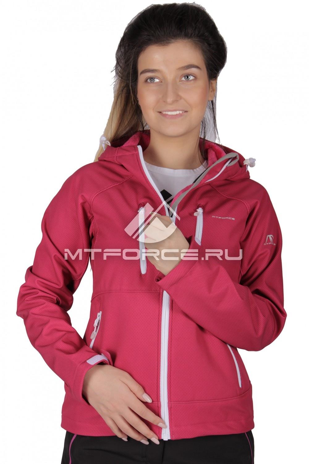 Купить                                  оптом Ветровка - виндстоппер женская розового цвета 1736R в Новосибирске